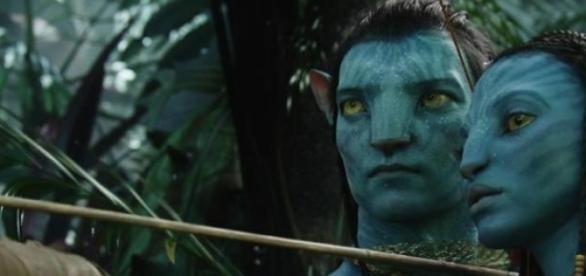 Jake Sully et Neytiri, héros d'Avatar.