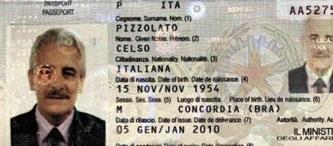 Documento falso utilizando pelo Henrique Pizzolato