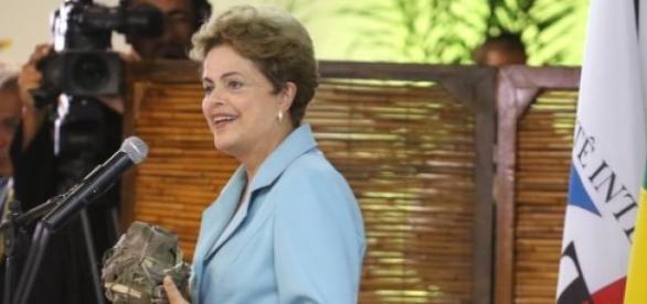 Dilma no lançamento dos jogos indígenas mundiais