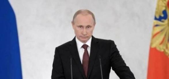 Władimir Putin podczas przemówienia