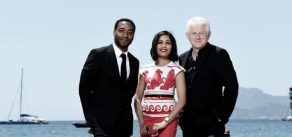 Freida Pinto, Chiwetel Ejiofor and Richard Curtis