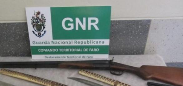 GNR apreendeu diversas armas