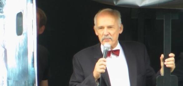 Janusz Korwin-Mikke, założyciel partii KORWiN