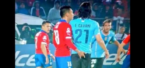 Le geste qui a énervé Cavani