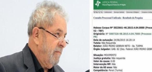 Pedido foi protocolado em nome do ex-presidente