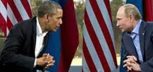 Barack Obama (sinistra) e Vladimir Putin