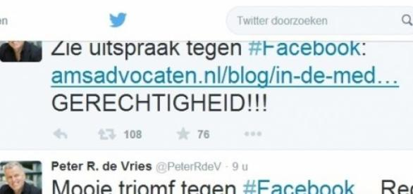 Facebook - Peter R. de Vries Twitter