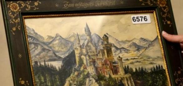 Il quadro di Hitler: il castello Neuschwachstein