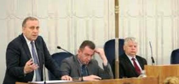 minister Schetyna  w Senacie RP