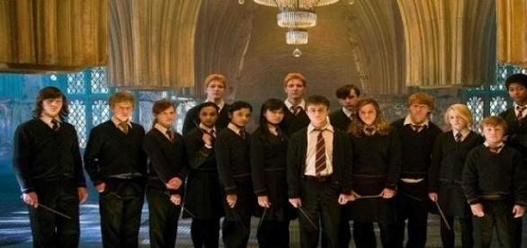 Parte do elenco de Harry Potter e a Ordem da Fénix