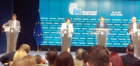 Straujuma, Tusk & Juncker (Ph. R Genicot)