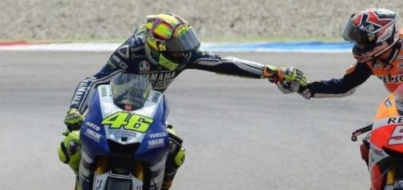 Wielcy mistrzowie MotoGP Holandii, Rossi i Marquez