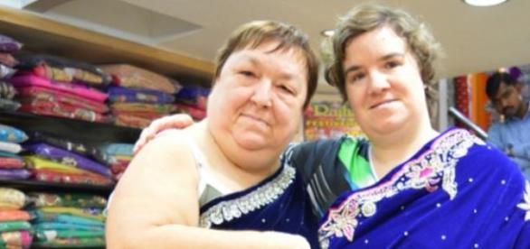 v.li. Mutter Irene und Beate Fischer, Fotos: RTL