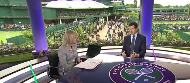 Studio TV podczas trwania Wimbledonu.