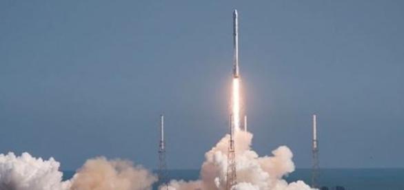 El despegue del cohete Falcon 9.