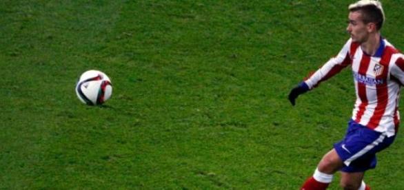 Griezmann en un partido con el Atlético