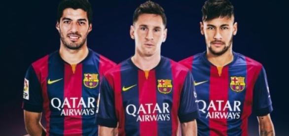 Messi, Neymar, Luizito Suárez