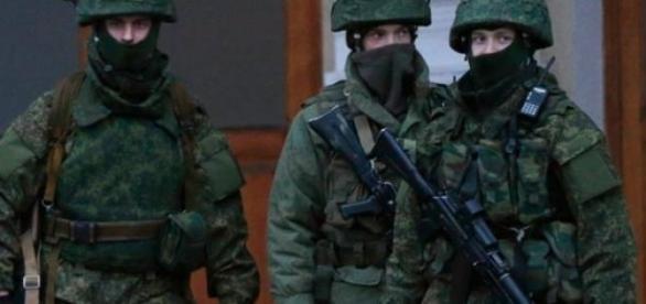 Soldados Ucranianos en Dombass