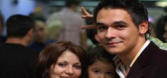 Răzvan Simion cu soția și fiica sa