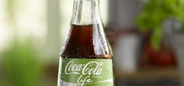 Die neue Coca Cola Life: Limonade mit Stevia.