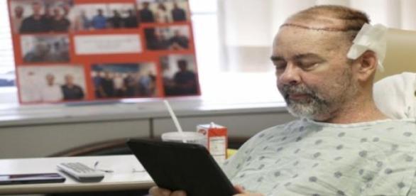 Jim Boysen cu noul său scalp