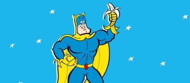 Su nombre es Bananaman el héroe