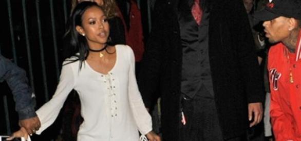 Chris Brown et Karrueche Tran après leur soirée.