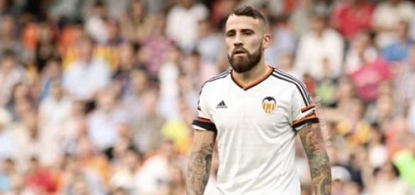 Otamendi con el Valencia C.F.