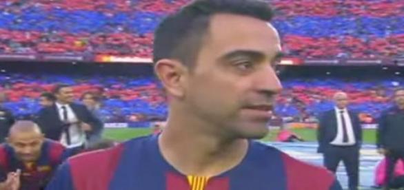Xavi Hernandez gestor de juego del Barcelona