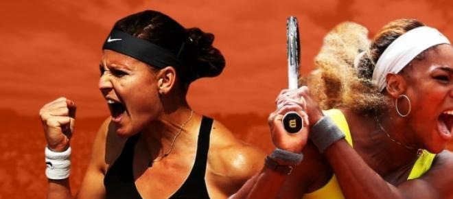 Lucie Safarova et Serena Williams