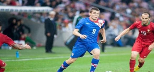Kovacic playing for Croatia national team