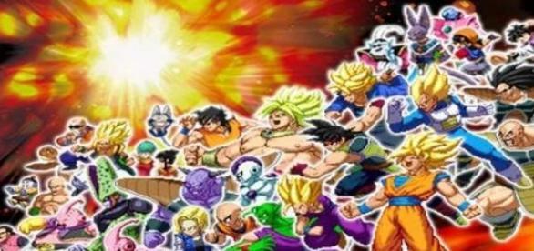 Parte del plantel de Dragon Ball Z Extreme Butoden