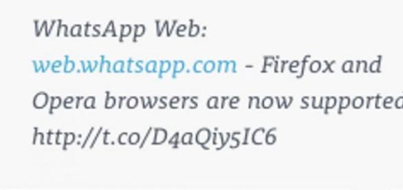 WhatsApp para Opera y Firefox