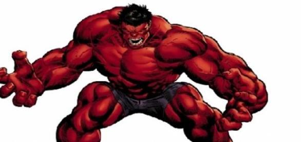 El Red Hulk de los comics