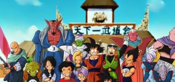 Algunos de los personajes de Dragon Ball Z