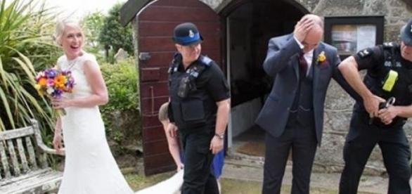 Un mire arestat la propria nunta