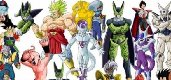 Algunos antagonistas de la serie