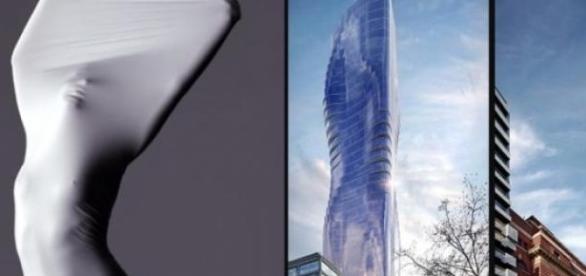 O prédio inspirado no corpo da cantora