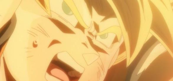 Goku luchando contra Bills