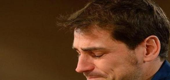 Iker Casillas en la rueda de prensa de despedida