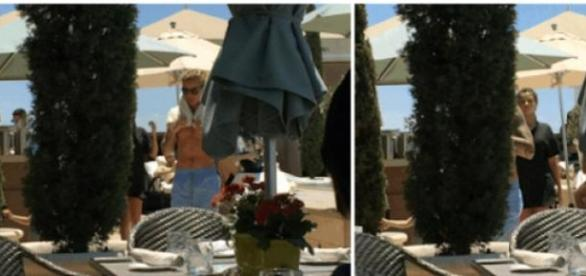 Justin e Selena abandonaram juntos o local