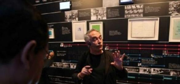 El chef Ferrán Adrià durante la exposición