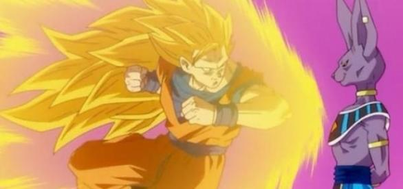 Goku luchando contra Bills