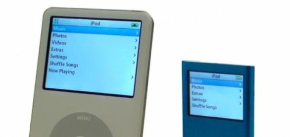 La evolución del iPod a largo de los años.