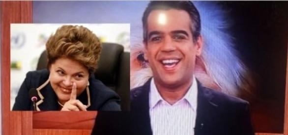 Mulher xinga Dilma ao vivo