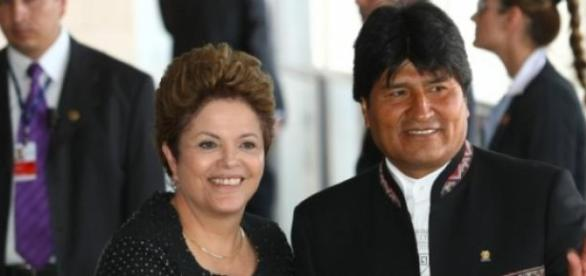 Dilma Rousseff e Evo Morales em Brasília