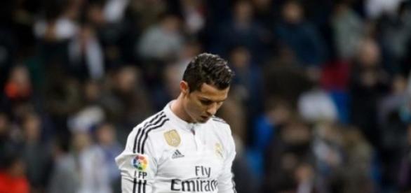 Cristiano Ronaldo não está feliz.