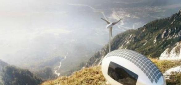 La ecocapsule incluye un sistema de energía solar