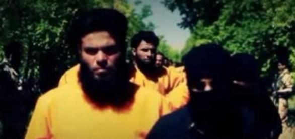 Miembros de ISIS en el momento de ser capturados