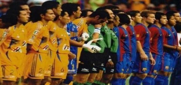 Tigres recebeu o Barcelona para amistoso em 2006